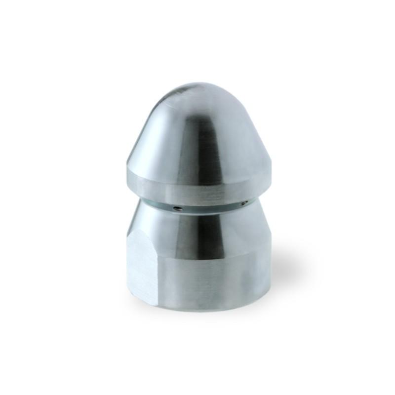 """Ugello Testa Tonda da 1"""" in Acciaio per pompe alta pressione e spurgo pozzi neri"""