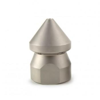Ugello testa conica per pulizia tubazioni condominiali per spurgo e manutenzione